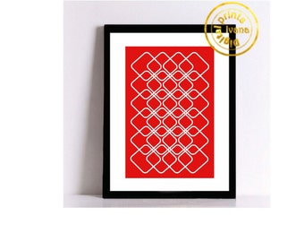 Printable art Digital Prints red modern wall art printable art, printable prints