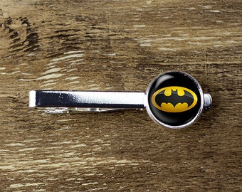 Batman tie clip, Batman tie bar, Batman jewelry, Batman accessories