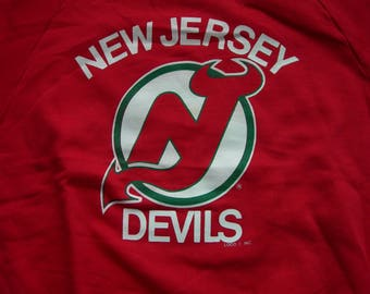 d4e5eb33d ... Vintage New Jersey Devils NHL hockey red sweatshirt by LOGO7 made in  the USA New with ...