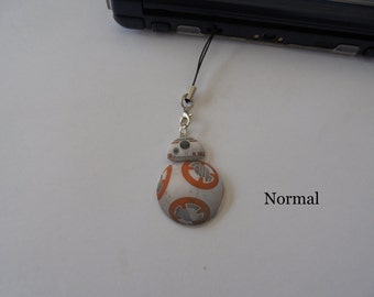 Star Wars BB8 3DS Charm - Mobile Charm - Mobile phone strap BB8 keychain for Mobile, Nintendo DS - BB8 Keychain for the phone or Nintendo DS