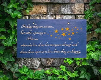 Perhaps They Are Not Stars - Hand Painted Slate Sign