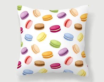 Macaron Pillow, French Pillow, Paris Pillow, French Home Decor, Girly Pillow, Macaroon Pillow, Pink Pillow, Blue Pillow, Girl Decor