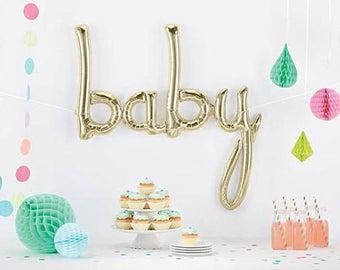 White Gold 'Baby' Balloon