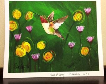 Hummingbird Art Print - Taste of Spring