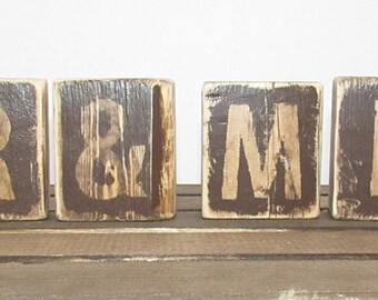 MR & MRS Rustic Wood Shelf Sitter-Engagement Git-Wedding Gift