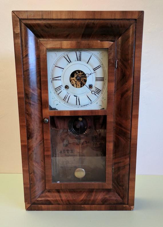 Seth Thomas Thirty Hour Brass Movement Weight Driven Clock