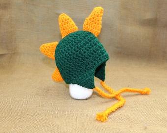 Dinosaur Crochet Hat - Crotchet, Handmade