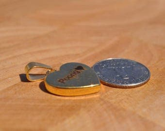Heart Necklace, Personalized, Laser, Engraved, Engraving, Thick, Custom, Gift, Graduation, Couple,