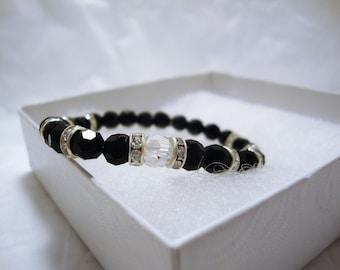 Swarovski Crystal Beaded Bracelet, Beaded Bracelets, Crystal Beaded Bracelet, Fashion Jewelry, Women's Jewelry, Beaded Jewelry, Stretch Cord