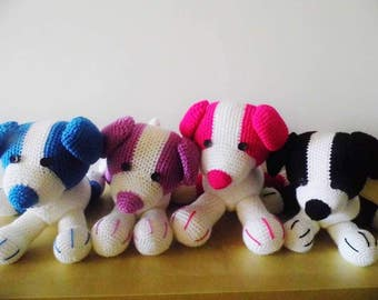 Puppy the dog, handmade toy, knitted dog, knitted toy, handmade dog, knitted puppy