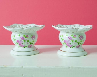 2 Beautiful Porcelain Candle holders