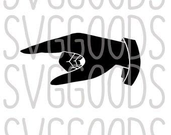 Pointing Hand SVG, Pointing Finger SVG, Finger SVG, Hand svg, pointing svg, point svg, retro svg, cut file, commercial svg, cricut, svg file