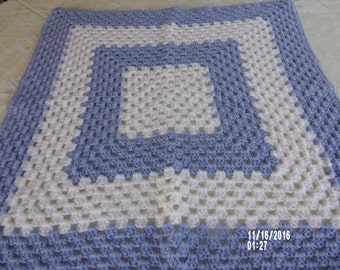 Crochet Baby Blanket - Handmade - measures 27x27 in
