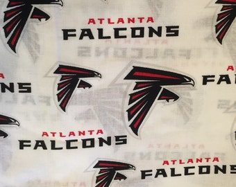 NFL ATLANTA FALCONS Football 100% cotton fabric material by the 1/2 yard licensed Crafts, Quilts, Home Decor