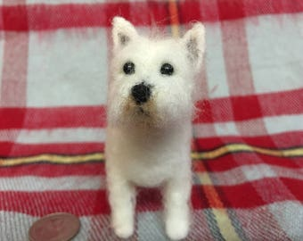 Mini-Pup Needle Felted West Highland White Terrier
