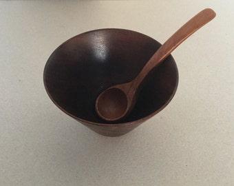 Mid century 60s/70s teak Bowl with spoon
