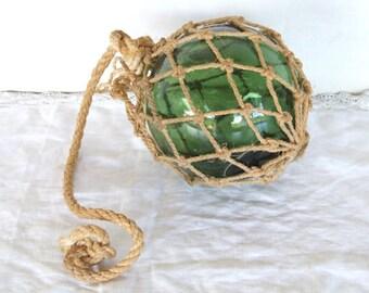 Vintage Glass Ball Fishing Float.