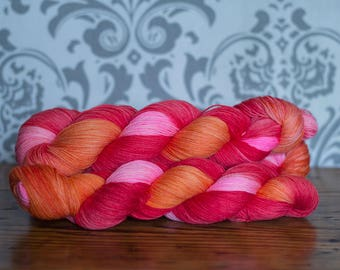 Hand dyed sock yarn- Hurricane