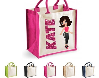 Personalised caricature gifts- jute bag
