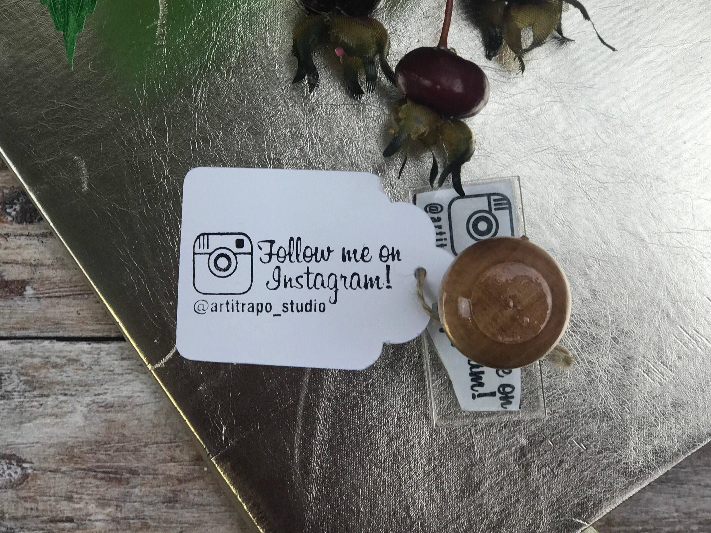 INSTAGRAM STAMP personalised social media Follow Me on