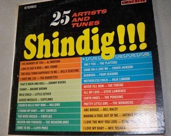 Vintage 1960's Shindig Show Record Album