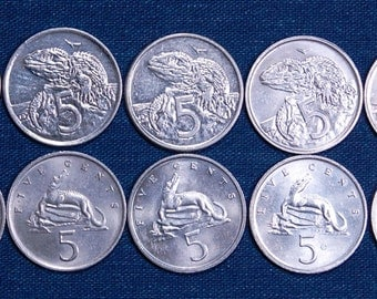 20 Gators and Iguanas, 10 Coins Each, 19 mm