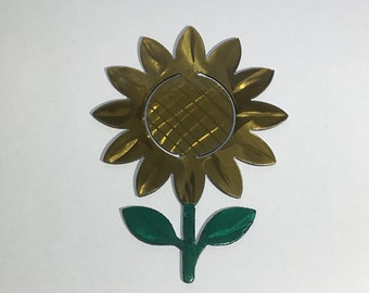 Metal Sunflower Wall Art with Two-Toned Transparent Candy Powder Coat - Flower, Steel, Various Sizes
