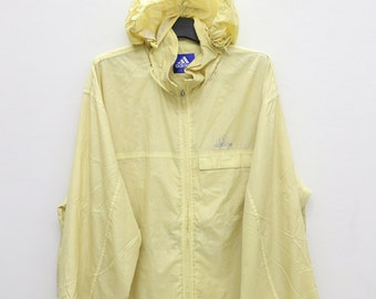Vintage Adidas Sportswear Yellow Hoodies Windbreaker