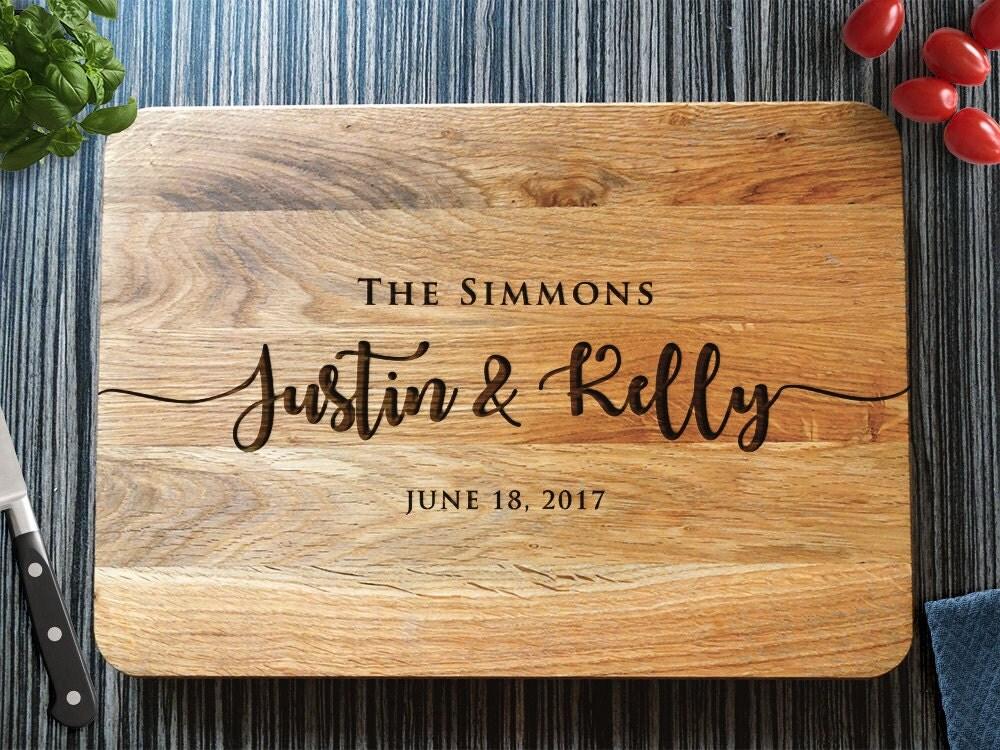 Wedding Gift Cutting Board: Personalized Cutting Board Wedding Gift Custom Bridal Shower