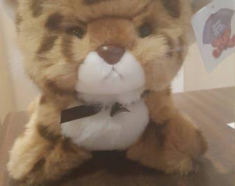 Adorable Vintage 1982 Gund Leopard Stuffed Plush Toy