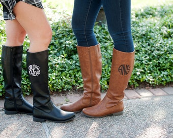 Cyber Sale Brooklyn Monogrammed Boots