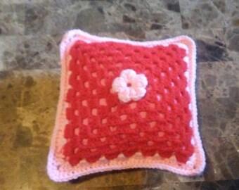Flower Crochet Pillow