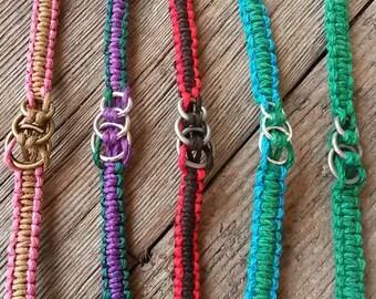 Skydive mini 3-ring survival weave bracelet