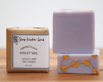Violet Homemade Soap // Purple Soap // Artisanal Soap // Cold Process Soap // Vegan Soap // Scented Soaps // Handcrafted Soap // Gift Soap