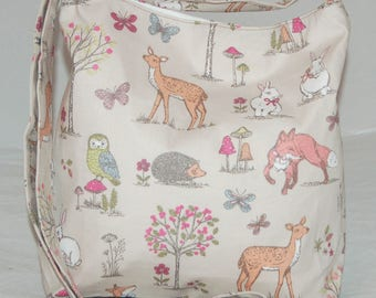 Women's Woodland Animals Shoulder Bag Handmade Great Britain