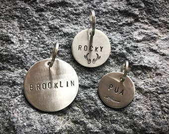 Nickel Personalized Pet ID Tag / Custom Made, Pet Gift, Pet Accessories / Dog / Cat Tag / Name Tag / dog collar / Birthday /Metal / phone