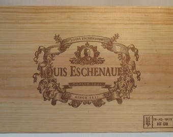 Small plate wood with print french wine