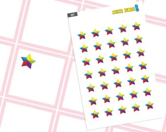 Star rainbow sticker planner stickers special day can mark by sticker cute planner accessories functional planner stickers