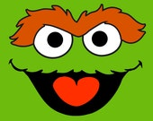 Sesame Street - Oscar The Grouch Poster - Birthday Decoration - Room Decor - Party for Kids and Fun Sesame Street Characters