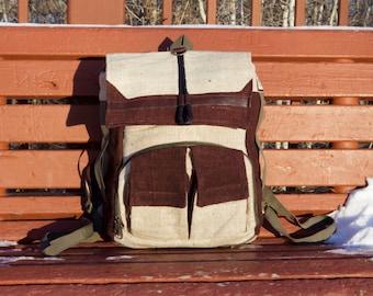 Pure Hemp Hiking Backpack Bag Organic Natural Stylish Fashion Travel Backpacker Explore Wonderlust