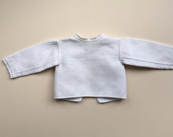 Baby blouse with a ribbon trim - 0/3m
