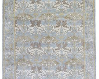 blue and gold rug etsy. Black Bedroom Furniture Sets. Home Design Ideas