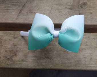 Mint green ombre, simple tux, hand weaved, interchangable headband, spring, summer, cool, refreshing, handmade, UK