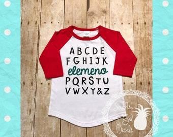 Alphabet elemeno Glitter Raglan Shirt