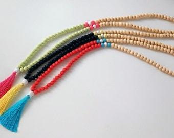 Mala Necklace - 108 + 1 wooden beads Mala Necklace - Meditation Necklace - Collar para meditación - Beaded Necklace - tassel necklace -