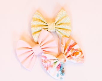 Fabric large hair bows