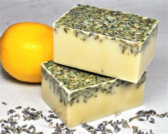 Handmade Lavender Honey Lemon Goat Milk Soap
