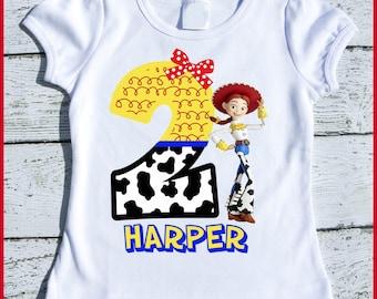 Custom Personalized Jessie Toy Story Birthday tee shirt