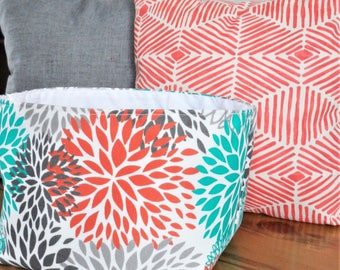 Storage Bin, Fabric Bin, Nursery Storage, Home Storage Bin, Fabric Basket, Organizer, Diaper Storage,