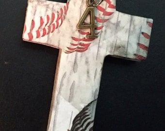 Baseball Cross Pendant